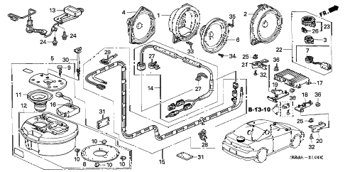 2006 RSX TYPE-S 3 DOOR 6MT ANTENNA - SPEAKER diagram