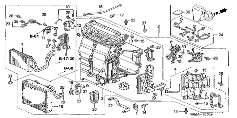 2006 RSX TYPE-S 3 DOOR 6MT HEATER UNIT diagram