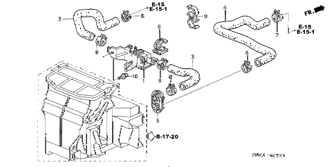 2006 RSX BASE 3 DOOR 5MT WATER VALVE diagram