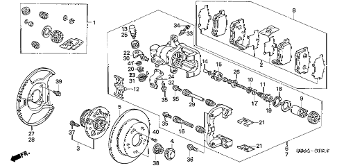 2006 RSX BASE 3 DOOR 5MT REAR BRAKE diagram