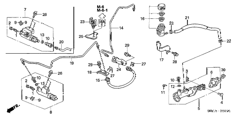 2006 RSX TYPE-S 3 DOOR 6MT CLUTCH MASTER CYLINDER diagram