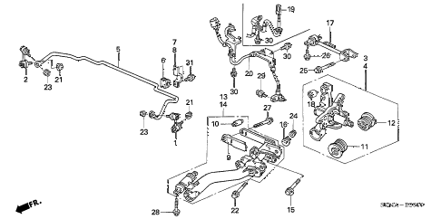 2006 RSX BASE 3 DOOR 5MT REAR LOWER ARM diagram