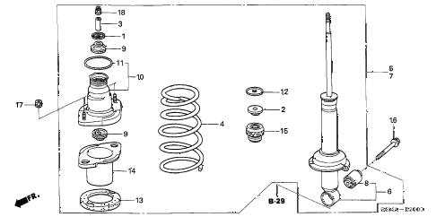 2006 RSX BASE 3 DOOR 5MT REAR SHOCK ABSORBER diagram