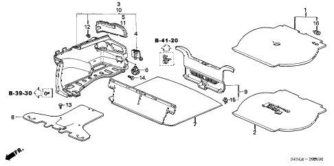2006 RSX TYPE-S 3 DOOR 6MT TRUNK LINING diagram