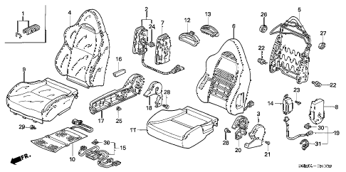 2006 RSX BASE 3 DOOR 5MT FRONT SEAT (R.) diagram