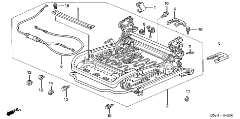 2006 RSX TYPE-S 3 DOOR 6MT FRONT SEAT COMPONENTS (R.) diagram