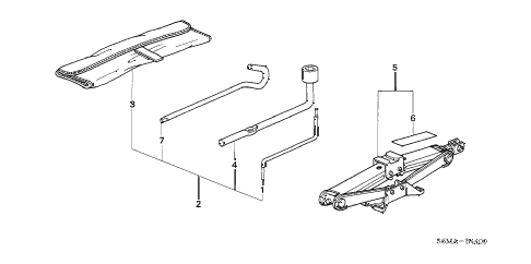 2006 RSX TYPE-S 3 DOOR 6MT TOOLS - JACK diagram
