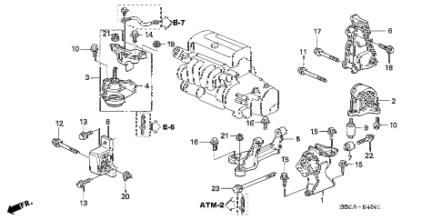acura online store 2006 rsx engine mounts at parts rh estore honda com 2004 acura rsx engine diagram 2003 acura rsx engine diagram
