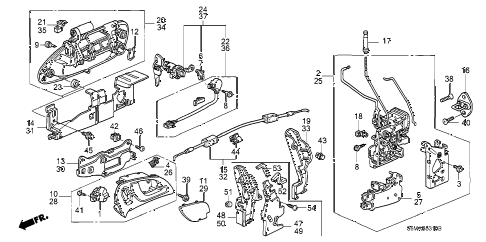 2006 RSX BASE 3 DOOR 5MT DOOR LOCKS - OUTER HANDLE diagram