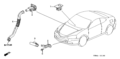 2006 RSX TYPE-S 3 DOOR 6MT A/C SENSOR diagram