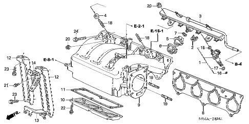 2006 RSX TYPE-S 3 DOOR 6MT INTAKE MANIFOLD (TYPE-S) diagram