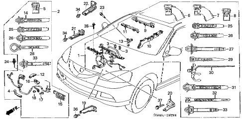 2006 RSX BASE 3 DOOR 5MT ENGINE WIRE HARNESS diagram