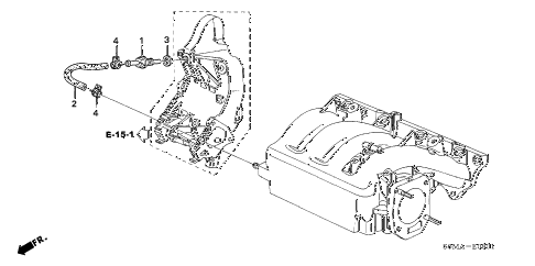 2006 RSX TYPE-S 3 DOOR 6MT PCV TUBE (TYPE-S) diagram