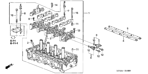 2006 RSX BASE 3 DOOR 5MT CYLINDER HEAD diagram