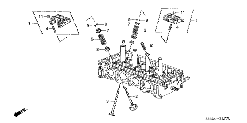 2006 RSX TYPE-S 3 DOOR 6MT VALVE - ROCKER ARM (TYPE-S) diagram