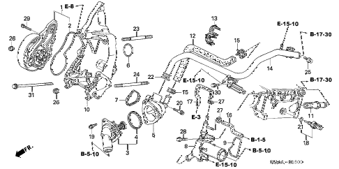 2006 RSX BASE 3 DOOR 5MT WATER PUMP diagram