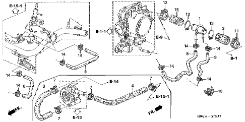2006 RSX TYPE-S 3 DOOR 6MT WATER HOSE (TYPE-S) diagram