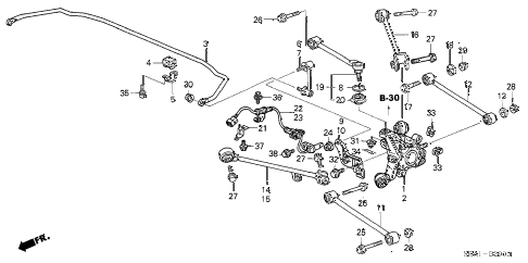 2007 TSX 4 DOOR 6MT REAR LOWER ARM diagram