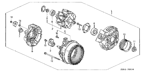 2007 TSX 4 DOOR 6MT ALTERNATOR diagram