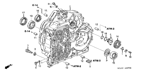2004 TSX 4 DOOR 5AT AT TORQUE CONVERTER CASE diagram
