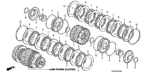 2004 TSX 4 DOOR 5AT AT CLUTCH (LOW-THIRD) (1) diagram