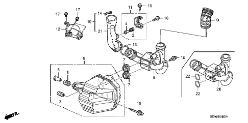 2005 TSX 4 DOOR 5AT RESONATOR CHAMBER diagram
