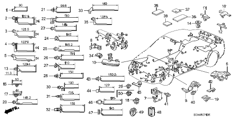 2006 TSX 4 DOOR 6MT HARNESS BAND - BRACKET diagram