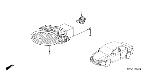 2006 TSX 4 DOOR 6MT FOGLIGHT diagram