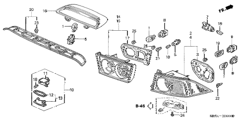 2006 TSX 4 DOOR 6MT TAILLIGHT - LICENSE LIGHT diagram