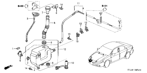 2006 TSX 4 DOOR 6MT WINDSHIELD WASHER diagram