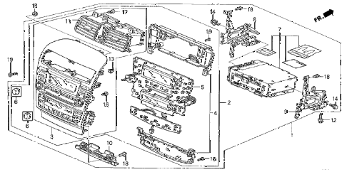 2004 TSX 4 DOOR 6MT CENTER MODULE diagram