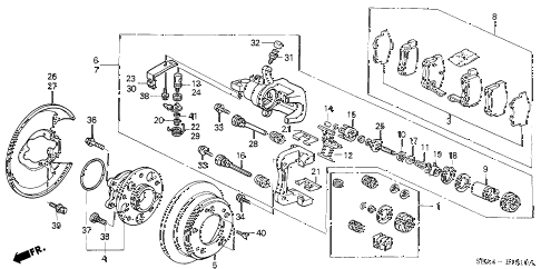 2004 TSX 4 DOOR 5AT REAR BRAKE (DISK) diagram