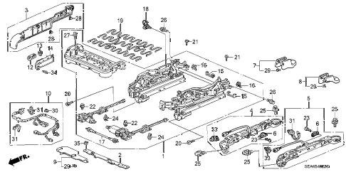 2007 TSX 4 DOOR 6MT FRONT SEAT COMPONENTS (R.) (4WAY POWER SEAT) (2) diagram