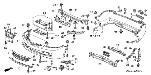 2006 TSX 4 DOOR 6MT BUMPERS (2) diagram