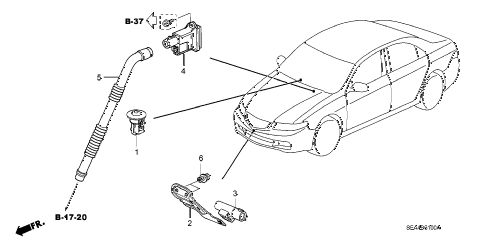 2007 TSX 4 DOOR 6MT A/C SENSOR - AUTO diagram