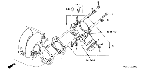 2005 TSX 4 DOOR 6MT THROTTLE BODY (1) diagram