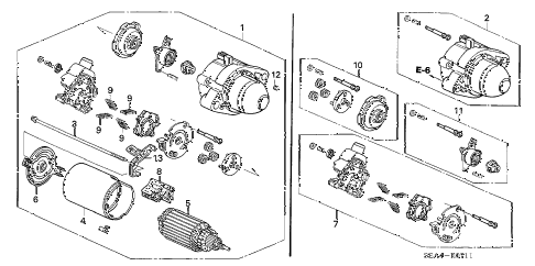 2006 TSX 4 DOOR 6MT STARTER MOTOR (MITSUBA) (2) diagram