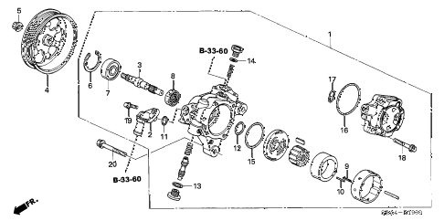 2005 TSX 4 DOOR 5AT P.S. PUMP (1) diagram