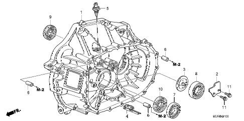 2005 TSX 4 DOOR 6MT MT CLUTCH CASE diagram