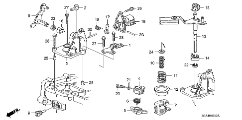 2005 TSX 4 DOOR 6MT MT SHIFT ARM diagram