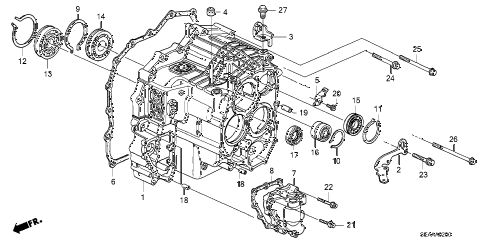 2008 TSX 4 DOOR 5AT AT TRANSMISSION CASE diagram
