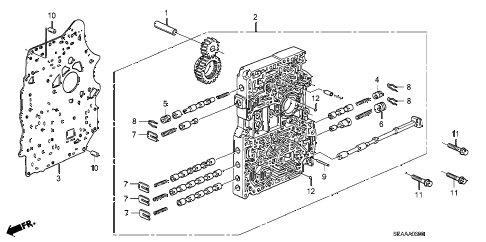 2008 TSX 4 DOOR 5AT AT MAIN VALVE BODY diagram