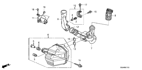 2008 TSX 4 DOOR 6MT RESONATOR CHAMBER diagram
