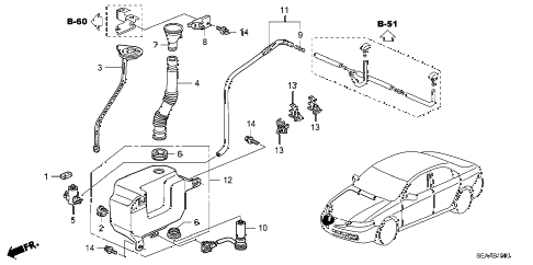 2008 TSX 4 DOOR 5AT WINDSHIELD WASHER diagram