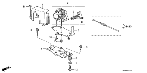 2008 TSX 4 DOOR 6MT ACCELERATOR SENSOR diagram