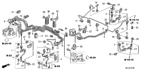 2008 TSX 4 DOOR 6MT BRAKE LINES (VSA) diagram