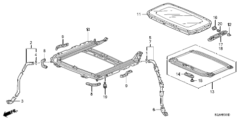 2008 TSX 4 DOOR 6MT SLIDING ROOF diagram