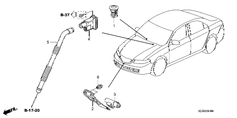 2008 TSX 4 DOOR 6MT A/C SENSOR diagram