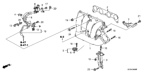 2008 TSX 4 DOOR 5AT INTAKE MANIFOLD diagram