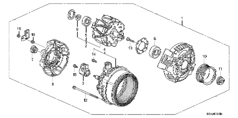 2008 TSX 4 DOOR 6MT ALTERNATOR (DENSO) diagram